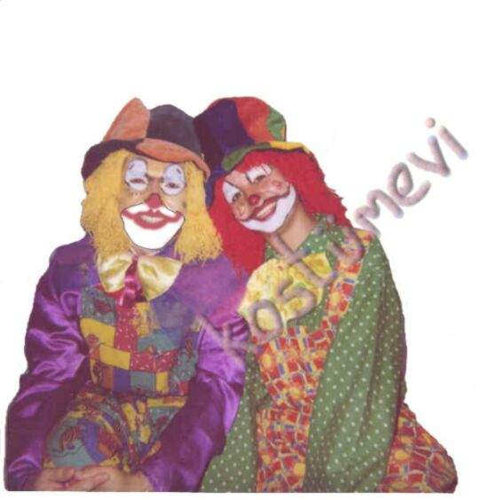 Palyaço Kostüm, Clown Costume,Buffoon, harlequin Costume
